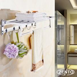 Giá để đồ kết hợp treo khăn hợp kim nhôm Zento OLO9703